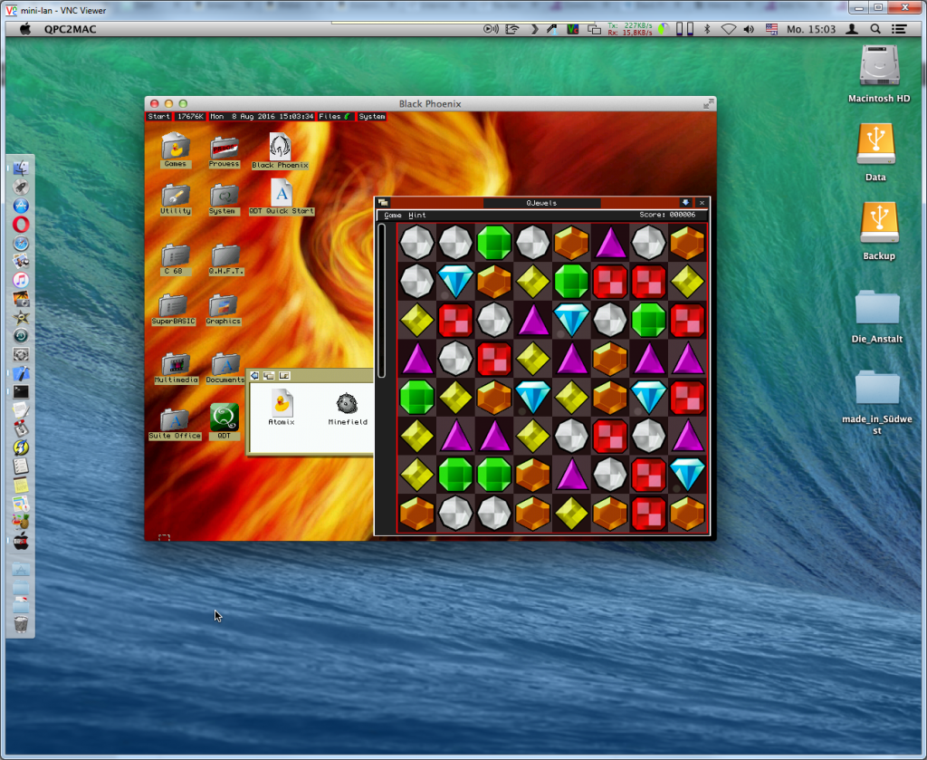 QPC2 running on Mac OS X